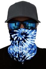 BlueTie Dye Print ansiktsmaske og halsvarmer med UV-beskyttelse mot solen