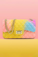 Yellow Rainbow Gradient PVC Jelly Bag