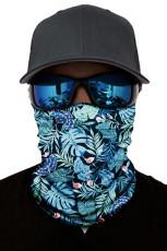 Grønn tropisk trykk ansiktsmaske og halsvarmer med UV-beskyttelse mot solen