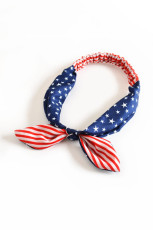 Stripes and Stars Flag Print Crossing Knot Hairband