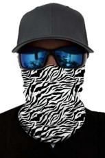 Zebra-ansiktsmaske og halsvarmer med UV-beskyttelse mot solen