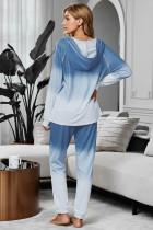 Blue Utopia Cotton Blend Tie Dye Hoodie Joggers Lounglass