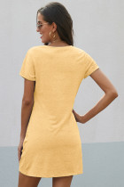 Robe jaune The Triblend Side Knot