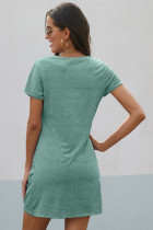 Màu xanh lá cây The Triblend Side Hôn Dress