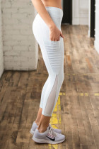 White Moto Pocketed Legging
