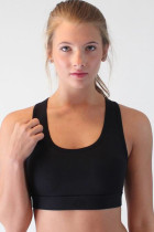 Black Back Pocket Sport Bra
