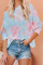Orange Tie Dye Pullover Langermet topp