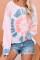 Pink Tie Dye Pullover Langermet topp