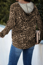 Brown Leopard Boxy Fit Hoodie