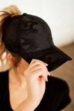 Black Mesh Prodyšný Snapback Nastavitelný Casual Baseball Cap