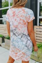 Muoti Tie-dye T-paita minimekko