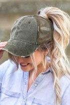 قبعة بيسبول شبكية من نسيج التويل باللون الأخضر الفاتح