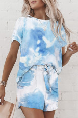 Sky Blue Tie Dye Lounge Set