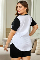 Черная футболка с шортами Colorblock Lounge