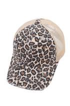 Čepice Brown Leopard Printed