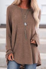 Tricou Khaki tricotat