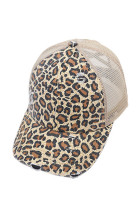 Yellow Leopard Printed Cap