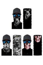 3 / pose Skull Print Sun UV-beskyttelse Ansiktsmaske