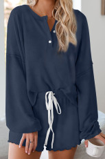 Set Slouchy Blue Cotton Blend