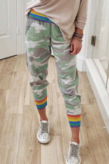 Rainbow Stripe Camo Casual Παντελόνι