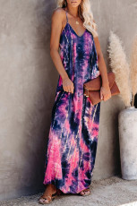 Tie-dye Drape Maxi Dress