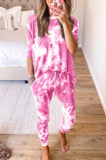Multicolor Tie-dye Loungewear Set
