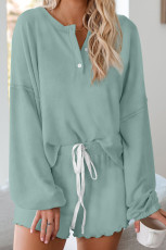 Green Cotton Blend Slouchy Set