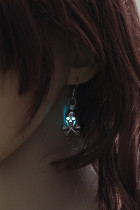 Pendientes Blue Halloween Skull Gleam