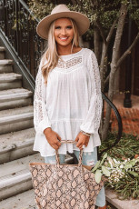 French Fling Lace Tunic Top