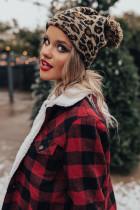 Brun Leopard Pom Beanie