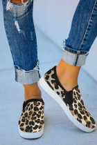 Zapatilla slip-on con estampado de leopardo