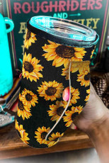 Sunflower Print Cup Cover