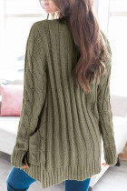 Green Button Pocket Knit Cardigan