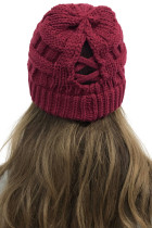 Вязаная шапка Mountainside Adventures Wine Knit Beanie