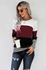 Vin Stilfuld Colorblock Splicing Stripes Top