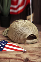 American Flag USA Kamuflase Hollow Out Baseball Cap