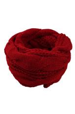 Burgundská klasická módní pletená kruhová šála