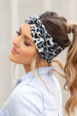 Black Leopard Twist Headwrap