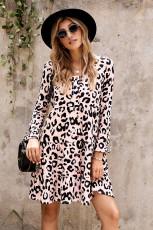 Leopardiportainen Babydoll-mekko