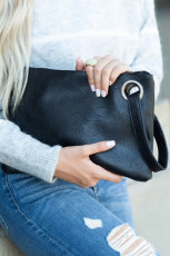 Black Oversized Everyday Clutch
