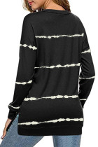 Tie-dye Stripes Black Sweatshirt
