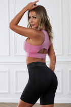 Pink Wireless Performance Knitted Sports Bra