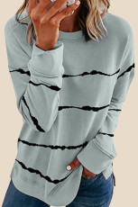 Tie-dye Stripes Gray Sweatshirt