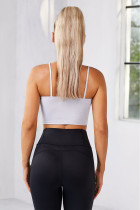 White Wireless Seamless Sport Yoga Bra Crop Tank