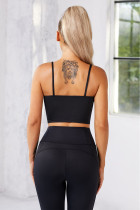 Black Wireless Seamless Sport Yoga Bra Crop Tank