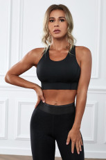 Black Wireless Performance Knitted Sports Bra