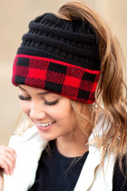 Red Buffalo Print Beanie