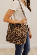 Bolsa e bolsa de ombro leopardo marrom