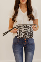 Bolsa de ombro e bolsa leopardo cinza