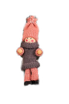 4pcs/bag Christmas Tree Knit Babydoll Hanging Ornament